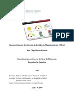 Desenvolvimento Do Sistema de Gestão Da Manutenção Da CIPAN
