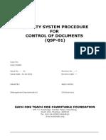 01 QSP Control of Documents
