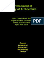 Development of Theory of Architecture