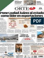 Periódico Norte edición del día 25 de septiembre de 2014