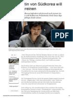 2014-09 Praesidentin zur Vereinigung Koreas