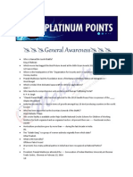 Platinium Points RRB English