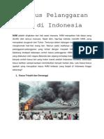 4 Kasus Pelanggaran HAM Di Indonesia