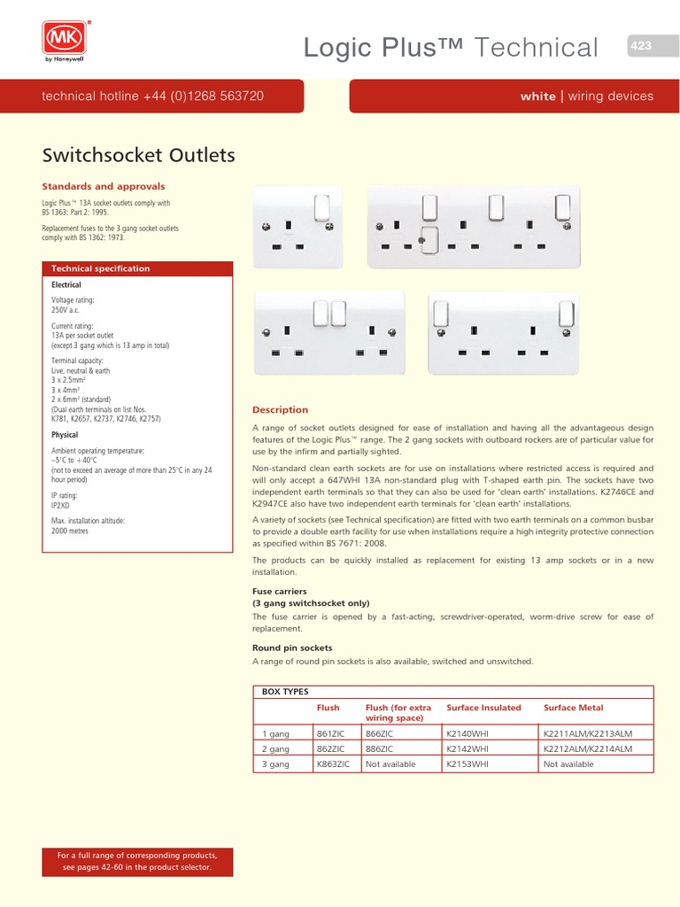 t02 Logic Plus Tech 355-389 | Ac Power Plugs And Sockets ...