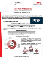 Communique de Presse Audipresse ONE ONE Global 25092014