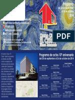 Programa del 10º Aniversario del Centro Cívico El Cerro de Coslada