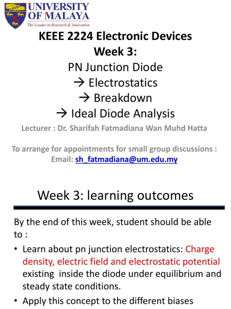 Lecture 3 Pn Junction Electronic Engineering Understanding The