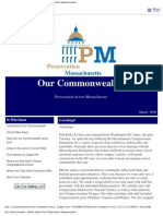Our Commonwealth (PM Newsletter), March 2009