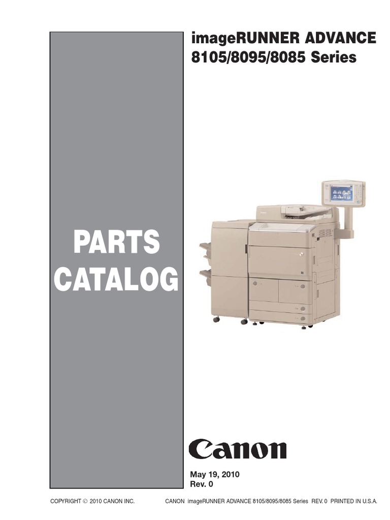 Canon Imagerunner Advance 8085, 8095, 8105 Series Parts List | Power Supply  | Printed Circuit Board
