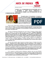 IU Muestra Dudas Sobre Las Ayudas a Las PYMES y Reta Al Consejero a Demostrar La Veracidad de Las Inversiones