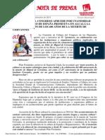 IU Logra en El Congreso Que El Gobierno Promueva en Alcalá La Celebración Del Aniversario de La Muerte de Cervantes