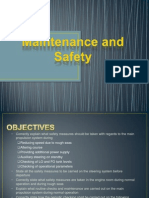 Maintenance and Safety