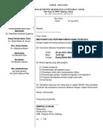 Surat Jemputan Mesyuarat Panitia Sains Tulen