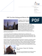 2007 Massachusetts' Most Endangered Historic Resources List