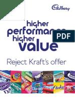 Cadbury's Formal Defense Against Kraft