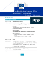 Jean Monnet/ECSA Conference 2014  The future of EU studies Brussels,