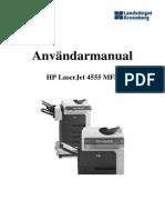 Användarmanual - HP Laserjet 4555 Mfp