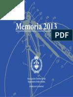 Memoria 2013 FINAL