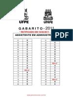 Assistente Em Administra o Covest Ufpe Ufrpe 2011 Gabarito