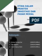 Etika Dalam Praktek Investasi Dan Pasar Modal
