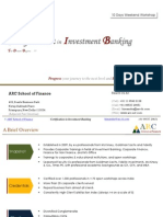 10 Days Weekend Workshop in Investment Banking_ARC