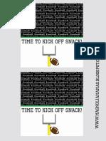 Football Snack Printable