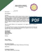 Request Letter Conduct Survey
