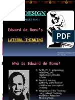 Lateral Thinking Presentation - edward de bono