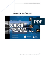 XXXII Congreso de Ciencias Del Mar 2012