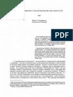 Pos-modernidade e a Ficqao Brasileira Dos Anos 70 e 80