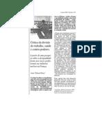 Crítica Da Divisão Do Trabalho_saude e Contra-poderes
