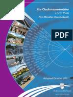 CD031 Clackmannanshire Local Plan 1st Alteration - Housing Land (October 2011)