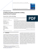 3D Filling Simulation of Injection Molding Based on the PG Method Zhou 2008 Journal of Materials Processing Technology