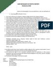 Handuraw 2014 Program and Criteria