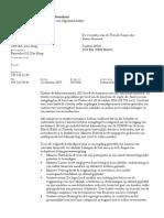 Brief van premier Balkenende aan de Tweede Kamer