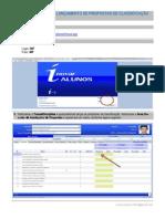 Procedimentos Para Lançamento de Propostas de Classificação