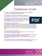 Biology databases guide