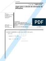 NBR 6120 - Cargas Para Cálculo de Estruturas de Edificações