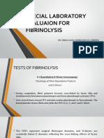 Special Laboratory Evaluaion For