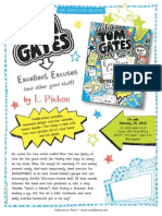 Tom Gates #2 and #3 by Liz Pichon - Press Release