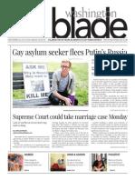 Washingtonblade.com, Volume 45, Issue 39, September 26, 2014