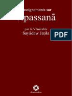 Enseignement Vipassana Par Le Vénérable Sayadaw Jatila