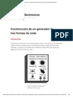Construcción de Un Generador de Tres Formas de Onda _ Instrumentos Electrónicos