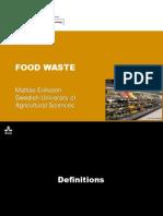 [GCUA SLU 2014] Food Wastage and Life Cycle Analysis