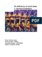 Carib Studies IA 2014- Sports , Jamaica