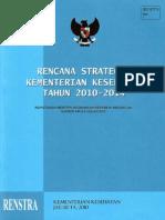 Indonesian Minstry of Health Strategic Plan 2010-2014