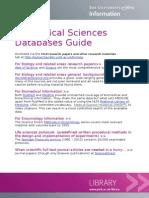 Biomedical Sciences Databases Guide