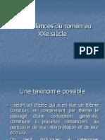 Les Tendances Du Roman Au XXe Siècle