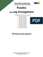Cetking Puzzles Sitting Arrangement Must Do 50 Questions PDF Handout