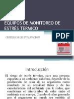 EQUIPOS DE MONITOREO DE ESTR+ëS TERMICO